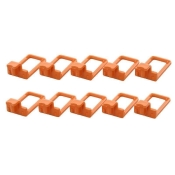 Hooks Set for Luxin clothes hanger, 10 pieces Orange