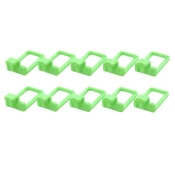 Hooks Set for Luxin clothes hanger, 10 pieces Green