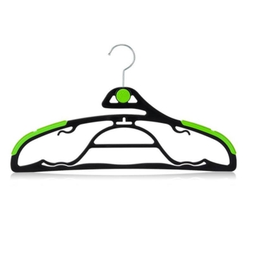 Luxin Non Slip clothes hanger set 3 pcs + 1 clip in green