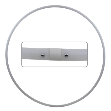 Hula Hoop Rohling, HDPE-20mm, WEISS (milchig), Durchmesser 60cm