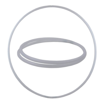 Hula Hoop Rohling, HDPE-20mm, WEISS (milchig), Durchmesser 80cm