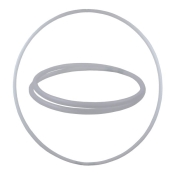 Hula Hoop Rohling, HDPE-20mm, WEISS (milchig), Durchmesser 90cm