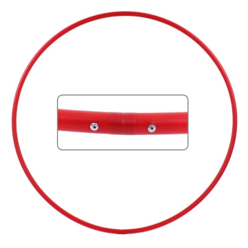 Hula Hoop Rohling, HDPE-20mm, ROT, Durchmesser 70cm