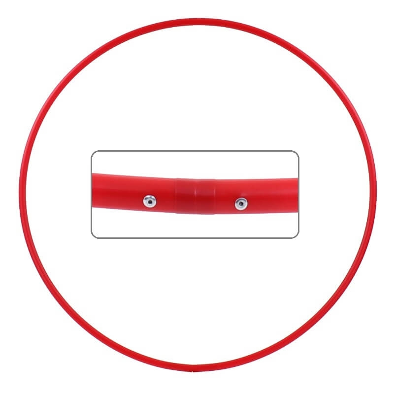 Hula Hoop Rohling, HDPE-16mm, ROT, Durchmesser 70cm
