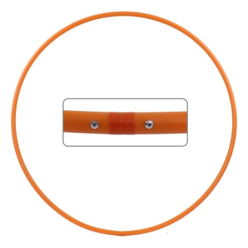 Hula Hoop Rohling, HDPE-16mm, ORANGE, Durchmesser 60cm