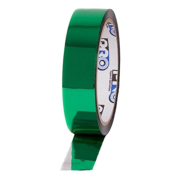 Pro Sheen metalised Tape, 24mm x 33m, green