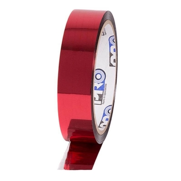 Pro Sheen metalised Tape, 24mm x 33m, red