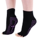 Hoopomania Half Toe anti-slip yoga socks with rubber studs, black, size: S