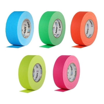 Pro Gaff Neon Grip Tape, 25mm x 23m, colored