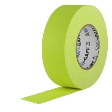 Pro Gaff Neon Grip Tape, 25mm x 23m, yellow