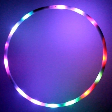 Hoopomania LED Hula Hoop con 16 luces, diámetro 60cm