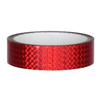 Hologramm Deco Tape 25mm x 30m, red