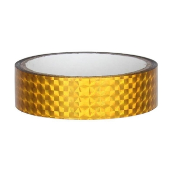 Hologramm Deco Tape 25mm x 30m, yellow