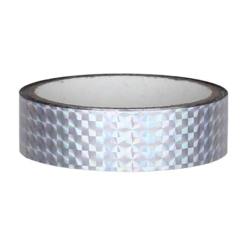 Hologramm Deco Tape 25mm x 30m, silver