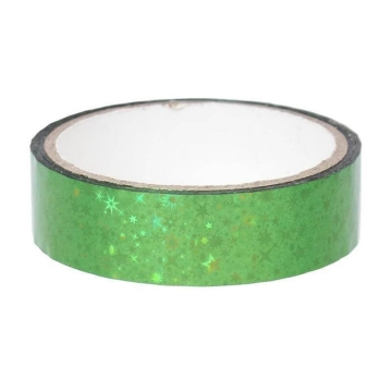 Stars Deco Tape 25mm x 30m, green