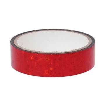 Stars Deco Tape 25mm x 30m, red