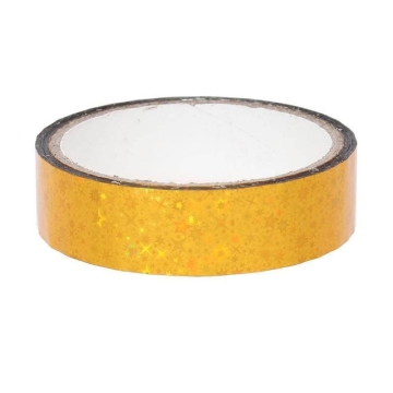 Stars Deco Tape 25mm x 30m, yellow
