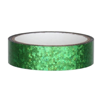 Glitter Deco Tape 25mm x 30m, green