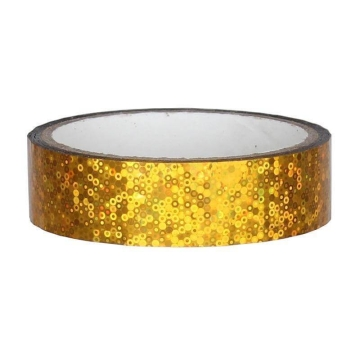 Glitter Deco Tape 25mm x 30m, yellow