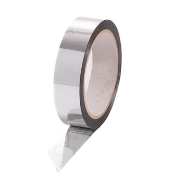 Metalised Polyester Tape 25mm x 50m, silver