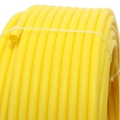 Plastic pipe made of HDPE-20mm, YELLOW