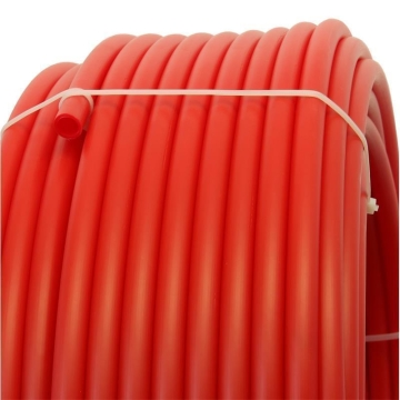 Plastic pipe made of HDPE-20mm, RED