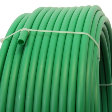 Plastic pipe made of HDPE-20mm, GREEN