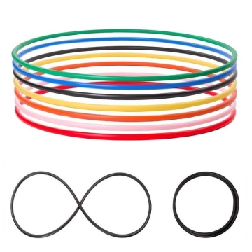 Foldable Hula Hoop, HDPE-20mm, colored, Ø105/100/95/90cm