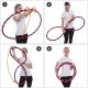 Faltbarer Hula Hoop, HDPE-20mm, Orange, Ø105 cm