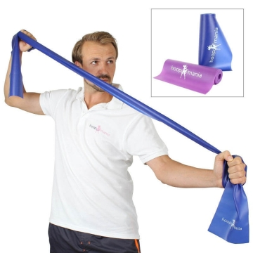 Hoopomania Fitness band (resistance band) - gymnastic bands for Yoga, Pilates or purposes of rehabilitation. Latex free