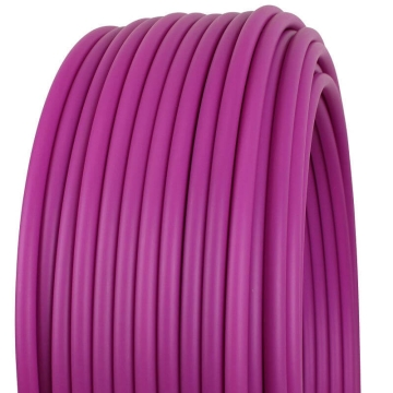 Plastic tube made of polypropylene Ø 16 mm, sold by the meter violet