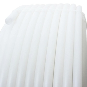 Polypropylene plastic tube Ø 20 mm, sold by the meter White