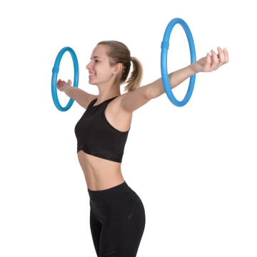 Hoopomania Arm Hoop, Hula Hoop with foam, 2 pieces Light blue